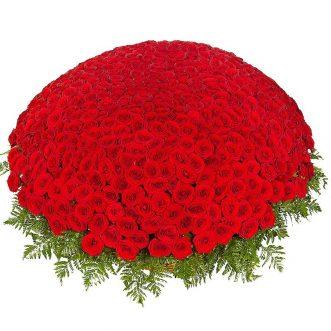 1001 красная роза в корзине
