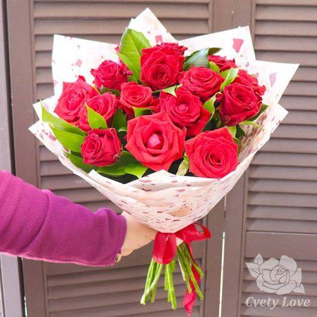 Букет из 15 российских роз