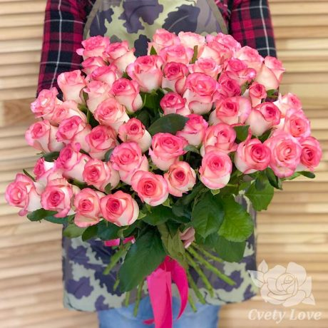Букет из 51 розы Джумилия 70 см