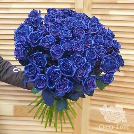 Букет из 51 синей розы